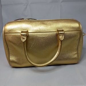 SAINT LAURENT Gold Metallic bag